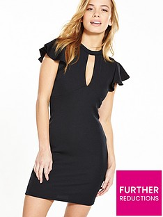v-by-very-petite-petite-angel-sleeve-rib-bodycon-dress-black