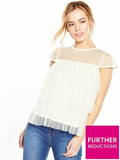 v-by-very-petite-petite-tulle-ruffle-blouse