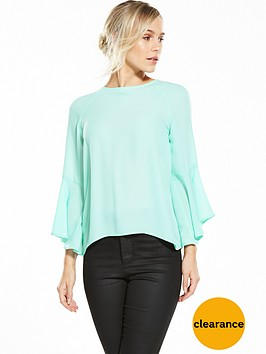 v-by-very-petite-petite-flute-cuff-long-sleeve-blouse-mint