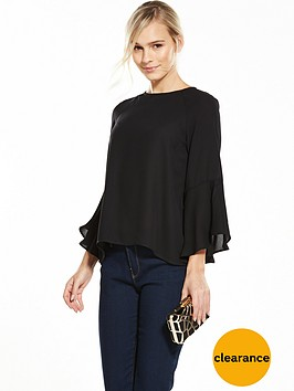 v-by-very-petite-petite-flute-cuff-long-sleeve-blouse