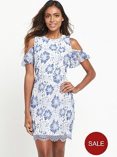 french-connection-antonia-lace-cold-shoulder-dress-blue