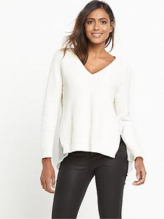 french-connection-mozart-hybrid-knits-jumper-white