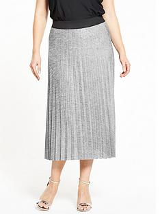 so-fabulous-metallic-pleat-skirt-silver