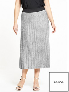 v-by-very-curve-metallic-pleat-skirt-silver