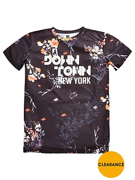 v-by-very-downtown-new-york-textured-t-shirt
