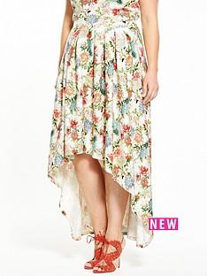 so-fabulous-floral-dipped-hem-co-ord-skirt