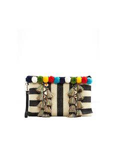 aldo-aldo-wristlet-clutch-with-pom-pom-amp-tassle-detail