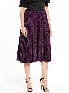v-by-very-metallic-pleat-skirt
