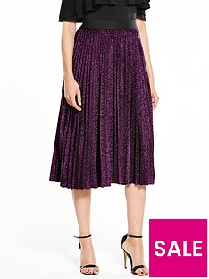 v-by-very-metallic-pleat-skirt