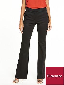 v-by-very-petite-ponte-bootcut-trouser-black