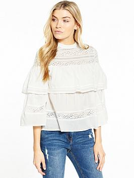 miss-selfridge-lace-tiered-blouse