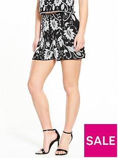 miss-selfridge-petite-embellished-co-ord-shorts