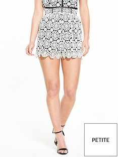 miss-selfridge-miss-selfridge-petite-mono-lace-short-available-in-sizes-4-14