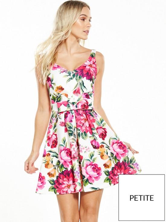 Miss Selfridge PETITE Floral Prom Dress   very.co.uk