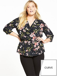 v-by-very-curve-floral-print-ruffle-blouse