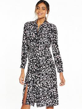miss-selfridge-floral-midi-shirt-dress