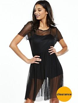 miss-selfridge-petite-mesh-overlay-dress