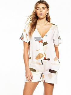native-youth-organic-displacement-button-back-romper