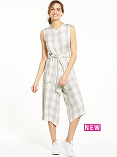 native-youth-native-youth-tie-waist-gingham-culotte-jumpsuit