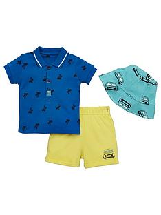 ladybird-baby-boys-sun-hat-polo-and-short-set