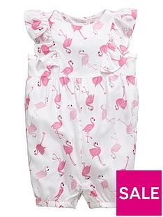 ladybird-baby-girls-flamingo-woven-romper