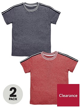 mini-v-by-very-boys-2pk-sports-stripe-detail-tees