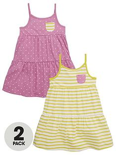 mini-v-by-very-girls-2pk-stripe-amp-pink-marl-spot-dresses