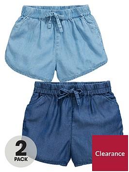 mini-v-by-very-toddler-girls-2pk-denim-tencell-shorts