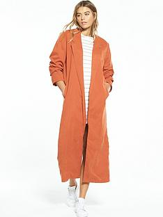 native-youth-lightweight-longline-jacket-rust