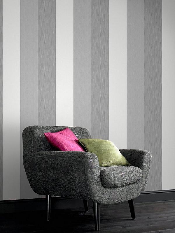 Java Stripe Wallpaper Grey