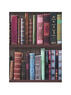 fresco-book-shelf-wallpaper