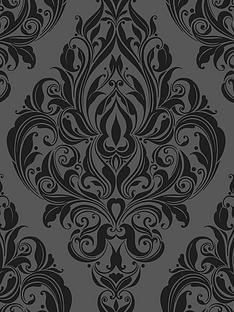 graham-brown-laurence-llewelyn-bowen-kinky-vintage-naughty-noir-flock-wallpaper