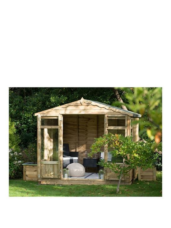 b0fd59de0f29 FOREST 8 x 6ft Oakley Overlap Pressure Treated Summerhouse