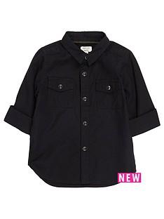 river-island-mini-mini-boys-black-military-oxford-shirt