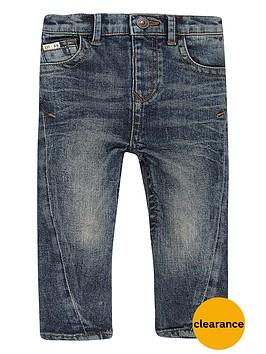 river-island-mini-boys-blue-wash-seam-skinny-jeans