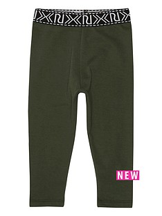 river-island-mini-girls-khaki-branded-leggings