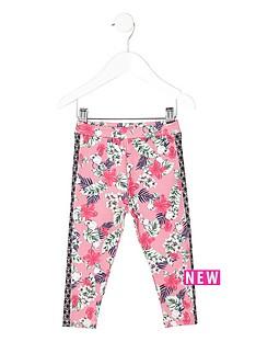 river-island-mini-mini-girls-pink-tropical-print-leggings