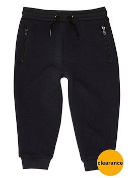 river-island-mini-boys-navy-textured-joggers