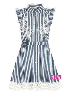 river-island-girls-stripe-embroidered-tea-dress