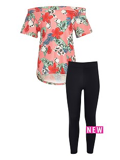 river-island-girls-pink-floral-bardot-top-and-leggings-set