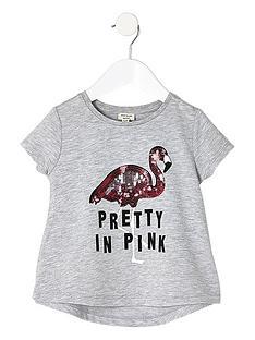 river-island-mini-mini-girls-grey-marl-flamingo-print-t-shirt
