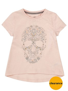 river-island-mini-mini-girls-pink-embellished-skull-t-shirt