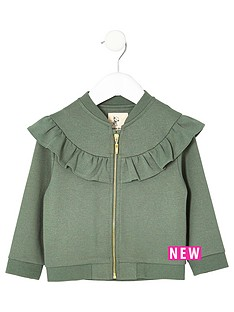 river-island-mini-mini-girls-khaki-ruffle-jacket