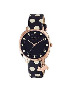radley-blue-dial-dog-charm-polka-dot-leather-strap-ladies-watch