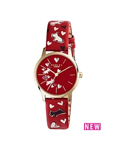 radley-radley-heart-and-dog-printed-red-dial-red-strap-ladies-watch