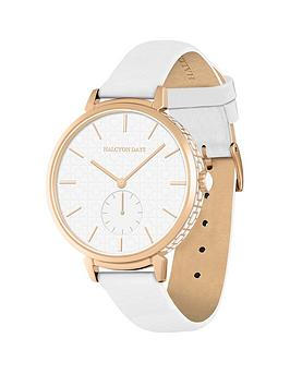 halcyon-days-maya-sports-white-dial-white-leather-strap-ladies-watch