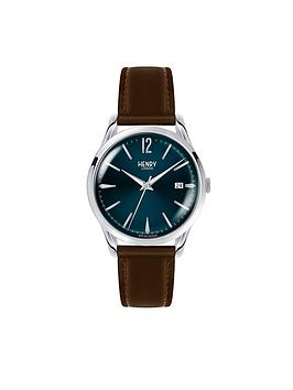 henry-london-henry-london-knightsbridge-blue-textured-dial-brown-leather-strap-mens-watch