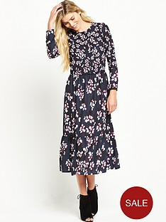 french-connection-eva-crepe-midi-dress-utility-blue-multi