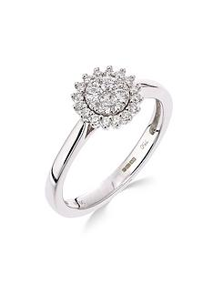 love-diamond-9ct-white-gold-25-point-diamond-cluster-ring