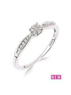 9ct-white-gold-10-point-diamond-cluster-ring